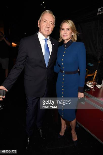 Kevin Spacey and Robin Wright attend the 2017 Tony Awards at Radio City Music Hall on June 11 2017 in New York City