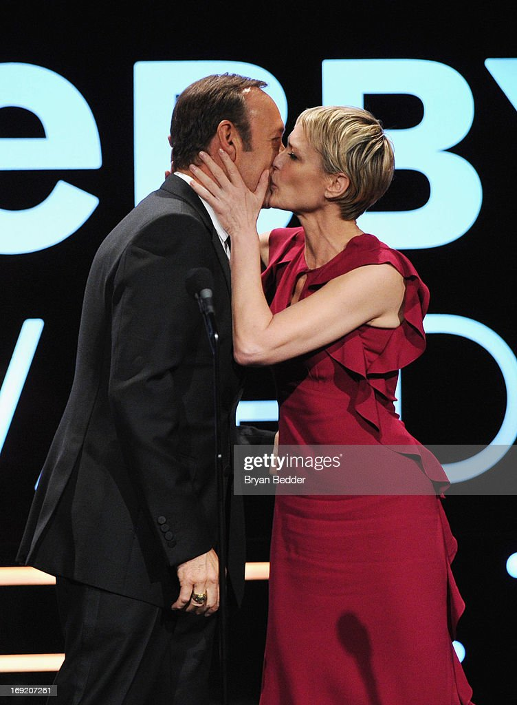 <a gi-track='captionPersonalityLinkClicked' href=/galleries/search?phrase=Kevin+Spacey&family=editorial&specificpeople=202091 ng-click='$event.stopPropagation()'>Kevin Spacey</a> and <a gi-track='captionPersonalityLinkClicked' href=/galleries/search?phrase=Robin+Wright&family=editorial&specificpeople=207147 ng-click='$event.stopPropagation()'>Robin Wright</a> speak onstage at the 17th Annual Webby Awards at Cipriani Wall Street on May 21, 2013 in New York City.