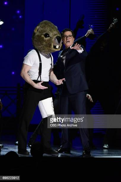 Kevin Spacey and Steven Colbert at THE 71st ANNUAL TONY AWARDS broadcast live from Radio City Music Hall in New York City on Sunday June 11 2017 on...