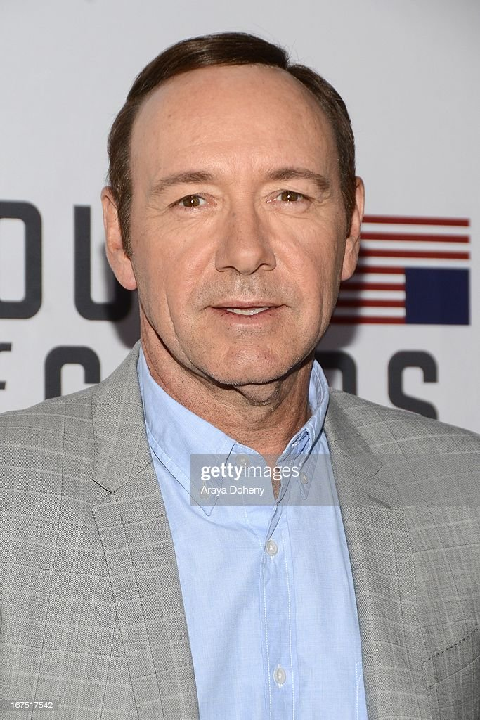 <a gi-track='captionPersonalityLinkClicked' href=/galleries/search?phrase=Kevin+Spacey&family=editorial&specificpeople=202091 ng-click='$event.stopPropagation()'>Kevin Spacey</a> arrives at the Netflix's 'House Of Cards' for your consideration Q&A event at Leonard H. Goldenson Theatre on April 25, 2013 in North Hollywood, California.