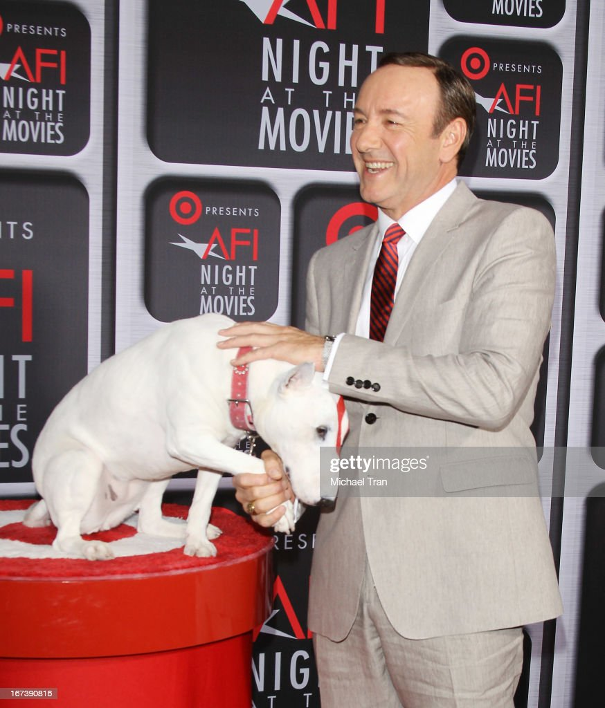 <a gi-track='captionPersonalityLinkClicked' href=/galleries/search?phrase=Kevin+Spacey&family=editorial&specificpeople=202091 ng-click='$event.stopPropagation()'>Kevin Spacey</a> arrives at the Target presents AFI Night at the movies held at ArcLight Hollywood on April 24, 2013 in Hollywood, California.