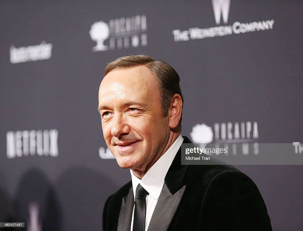 <a gi-track='captionPersonalityLinkClicked' href=/galleries/search?phrase=Kevin+Spacey&family=editorial&specificpeople=202091 ng-click='$event.stopPropagation()'>Kevin Spacey</a> arrives at The Weinstein Company and NetFlix 2014 Golden Globe Awards after party held on January 12, 2014 in Beverly Hills, California.
