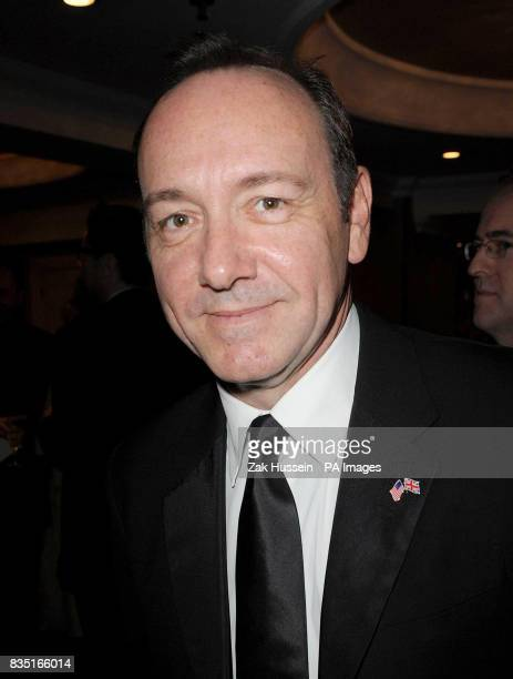 Kevin Spacey arrives for the Laurence Olivier Awards at the Grosvenor Hotel in central London
