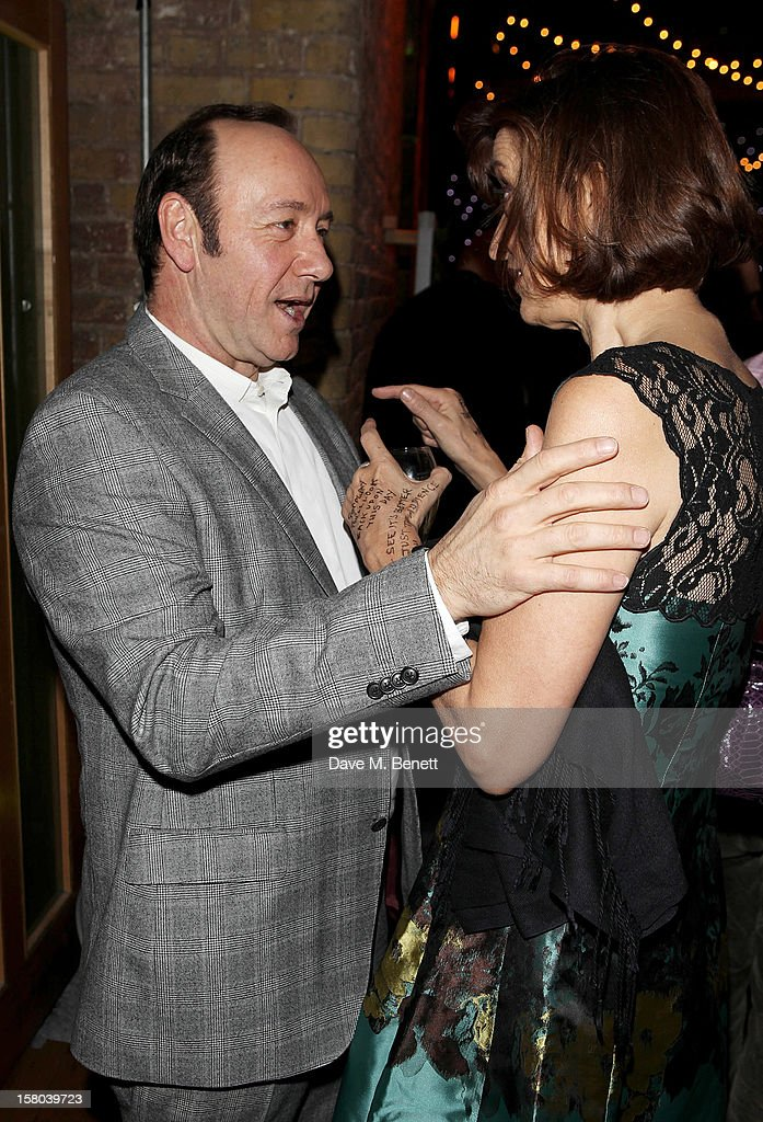Kevin Spacey Artistic Director of The Old Vic and Haydn Gwynne attend an after party celebrating the 24 Hour Musicals Gala Performance at Vinopolis...
