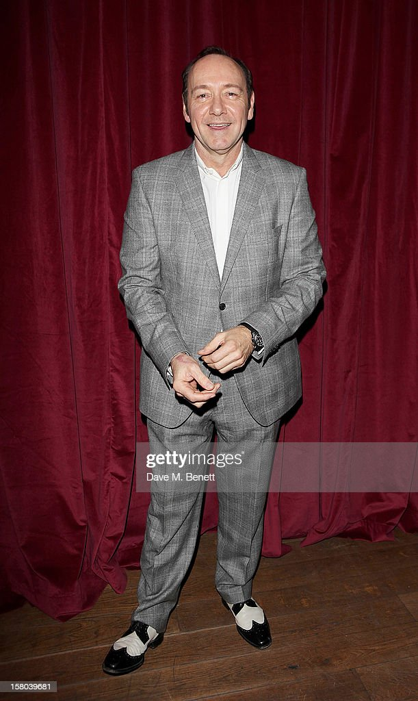 Kevin Spacey, Artistic Director of The Old Vic, attends an after party celebrating the 24 Hour Musicals Gala Performance at Vinopolis on December 9, 2012 in London, England.