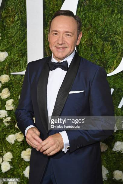 Kevin Spacey attends the 2017 Tony Awards at Radio City Music Hall on June 11 2017 in New York City