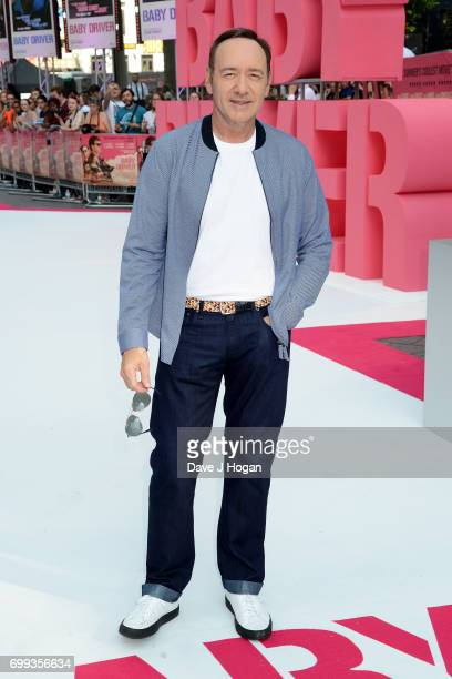 Kevin Spacey attends the European Premiere of 'Baby Driver' at Cineworld Leicester Square on June 21 2017 in London England