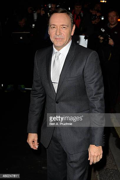 Kevin Spacey attends the Evening Standard Theatre Awards at The Savoy Hotel on November 17 2013 in London England
