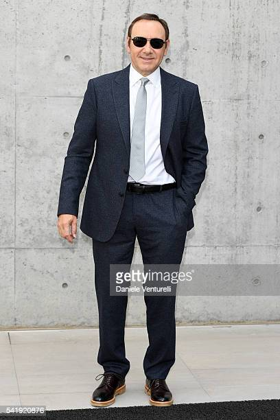 Kevin Spacey attends the Giorgio Armani show during Milan Men's Fashion Week SS17 on June 21 2016 in Milan Italy