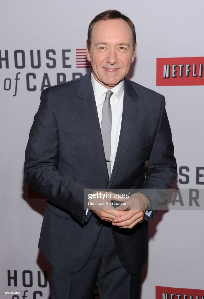 <a gi-track='captionPersonalityLinkClicked' href=/galleries/search?phrase=Kevin+Spacey&family=editorial&specificpeople=202091 ng-click='$event.stopPropagation()'>Kevin Spacey</a> attends the Netflix's 'House Of Cards' New York Premiere at Alice Tully Hall on January 30, 2013 in New York City.