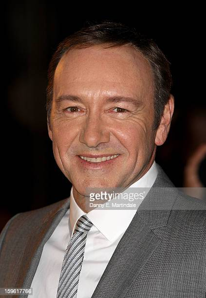 Kevin Spacey attends the red carpet premiere for the launch of Netflix Original Series House of Cards on January 17 2013 in London United Kingdom