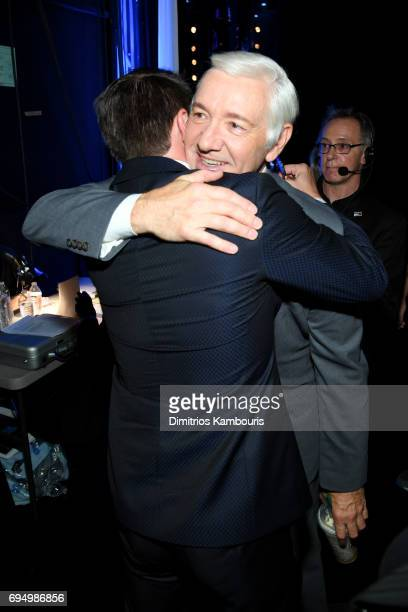 Kevin Spacey backstage at the 2017 Tony Awards at Radio City Music Hall on June 11 2017 in New York City