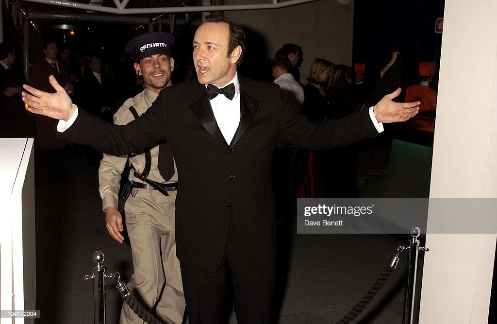 Kevin Spacey Being Searched By Security, The Old Vic Theatre Benefit Party Held At The Old Vic Theatre London.
