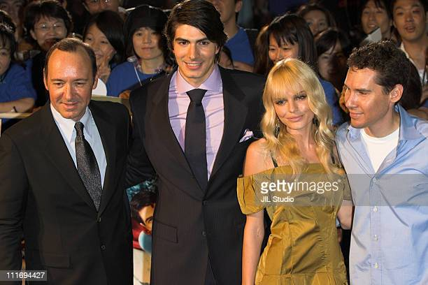 Kevin Spacey Brandon Routh Kate Bosworth and Bryan Singer director