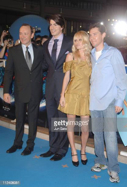 Kevin Spacey Brandon Routh Kate Bosworth and Bryan Singer