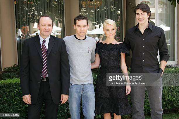 Kevin Spacey Bryan Singer Kate Bosworth and Brandon Routh