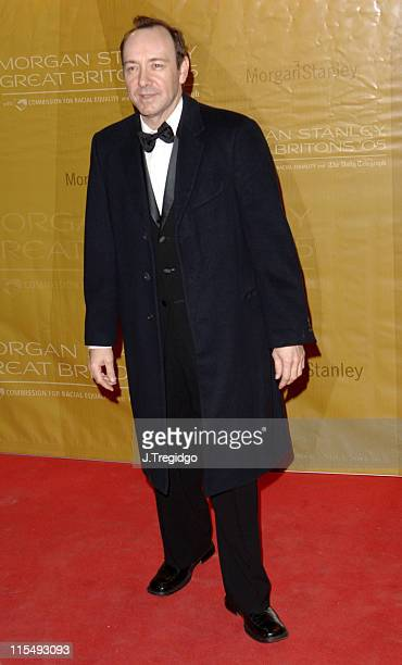 Kevin Spacey during Morgan Stanley Great Britons 2005 at Guildhall in London Great Britain