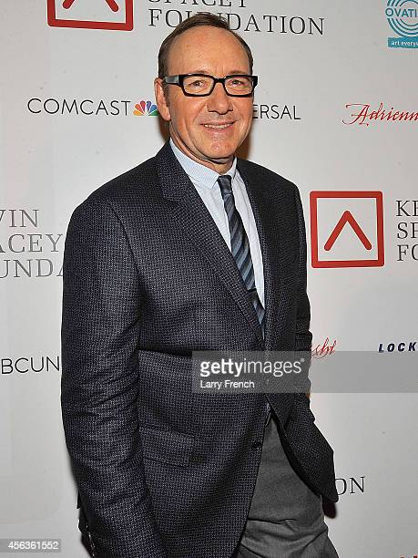 Kevin Spacey is seen on the red carpet during the after party for the Kevin Spacey Foundation benefit concert at The Hotel Monaco on September 29...
