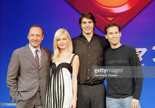 Kevin Spacey Kate BosworthBrandon Routh and Bryan Singer director