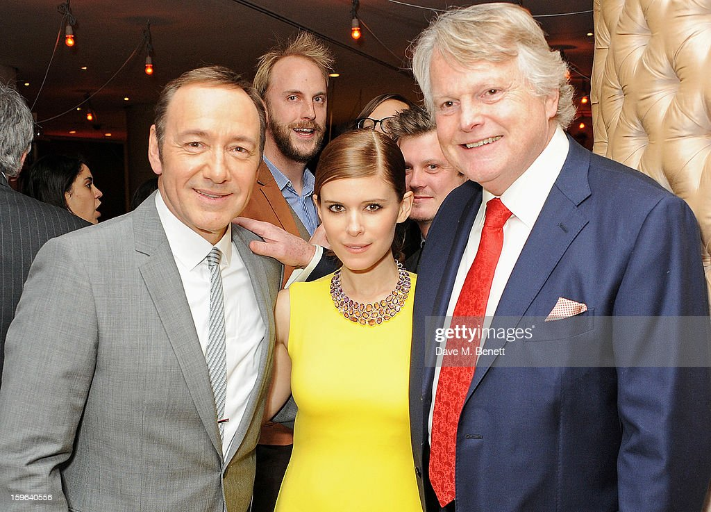 (L to R) <a gi-track='captionPersonalityLinkClicked' href=/galleries/search?phrase=Kevin+Spacey&family=editorial&specificpeople=202091 ng-click='$event.stopPropagation()'>Kevin Spacey</a>, <a gi-track='captionPersonalityLinkClicked' href=/galleries/search?phrase=Kate+Mara&family=editorial&specificpeople=544680 ng-click='$event.stopPropagation()'>Kate Mara</a> and Lord Michael Dobbs attend an after party celebrating the Red Carpet Premiere of the Netflix original series 'House of Cards' at Asia de Cuba, St Martins Lane Hotel, on January 17, 2013 in London, England.
