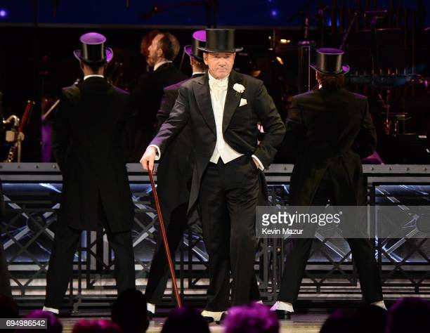Kevin Spacey performs onstage during the 2017 Tony Awards at Radio City Music Hall on June 11 2017 in New York City