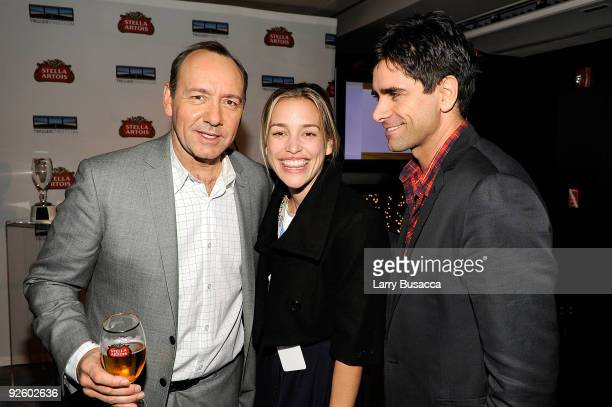 Kevin Spacey Piper Perabo and John Stamos attend the 1st annual Stella Artois short film project winner celebration hosted by Kevin Spacey Trigger...