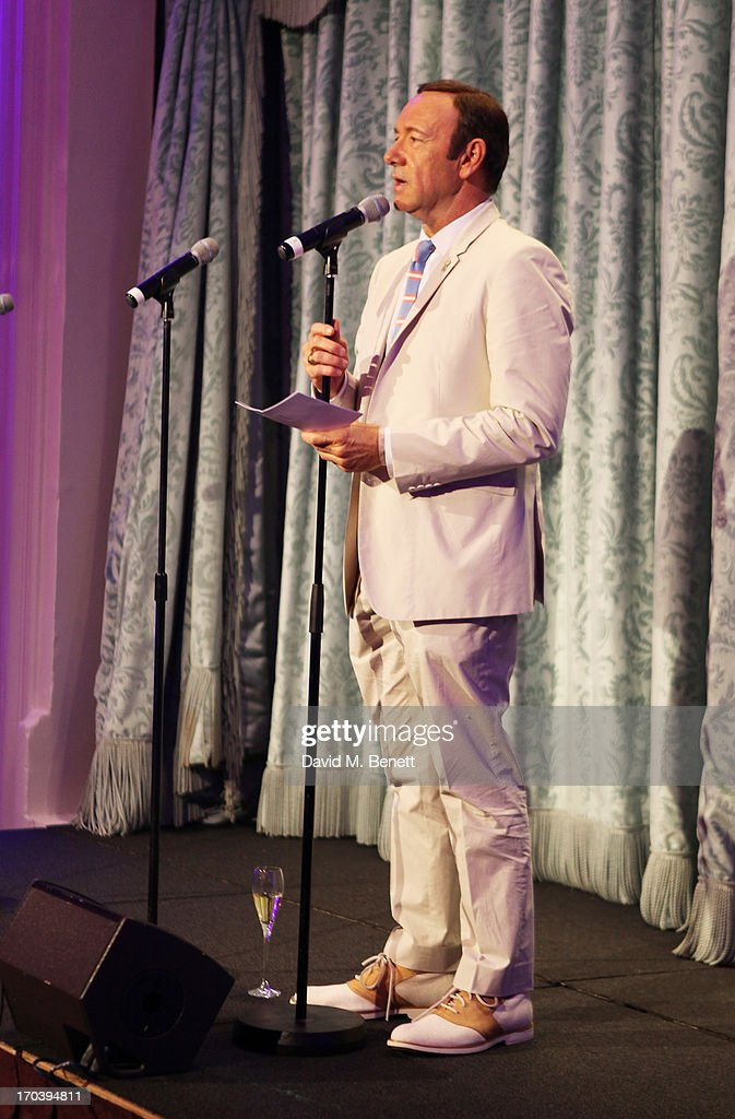 Kevin Spacey speaks at an after party following the press night performance of The Old Vic's 'Sweet Bird of Youth' at The Savoy Hotel on June 12, 2013 in London, England.