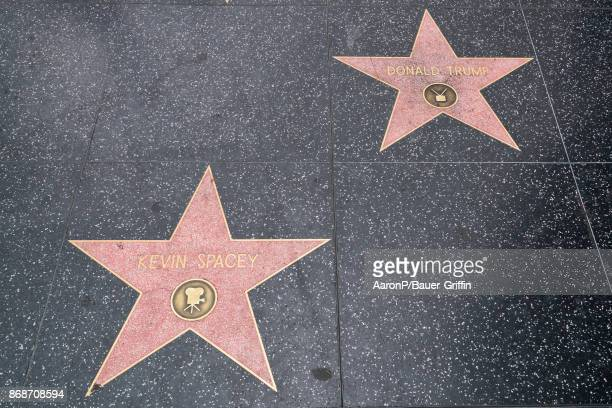 Kevin Spacey who has famously portrayed fictional Democratic US President Frank Underwood in Netflix's 'House of Cards' has his star situated next to...