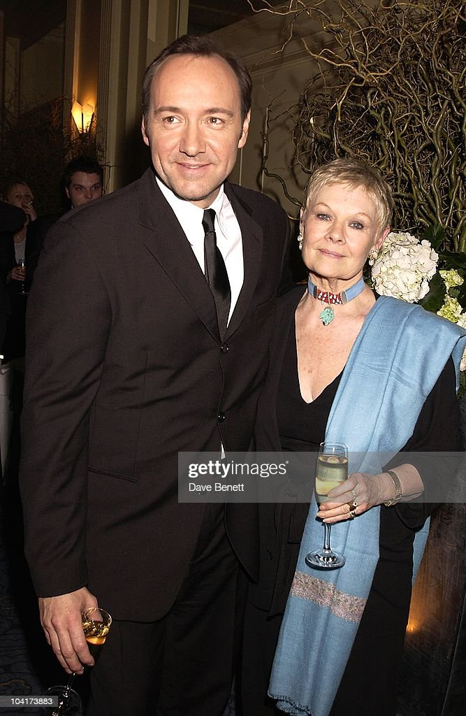Kevin Spacey With Dame Judi Dench, The Premiere Of Shipping News Was Followed By A Glamorous Party At Clarridges Hotel In London.