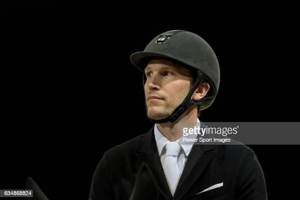 Kevin Staut of France riding Aran competes during the Longines Grand Prix part of the Longines Masters of Hong Kong on 12 February 2017 at the Asia...