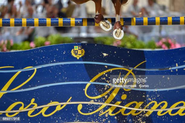 Kevin Staut of France riding Reveur De Hurtebise H D C during the FEI Nations Cup Piazza di Siena on May 26 2017 in Villa Borghese Rome Italy
