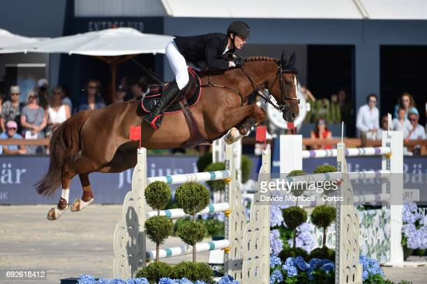 Kevin Staut of France riding Reveur de Hurtebise H D C during the Longines Grand Prix Athina Onassis Horse Show on June 3 2017 in St Tropez France