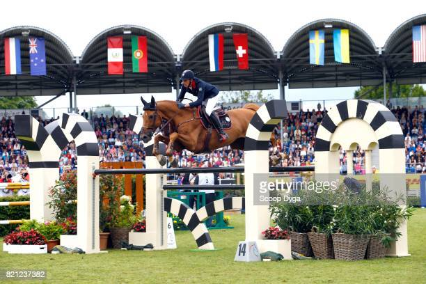 Kevin STAUT of France riding SILVER DEUX DE VIRTON HDC during the Rolex Grand Prix part of the Rolex Grand Slam of Show Jumping of the World...