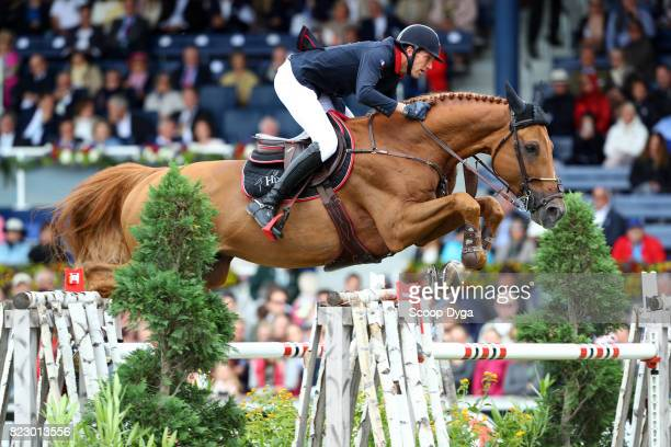 Kevin STAUT riding SILVER DEUX DE VIRTON HDC during the Rolex Grand Prix part of the Rolex Grand Slam of Show Jumping of the World Equestrian...