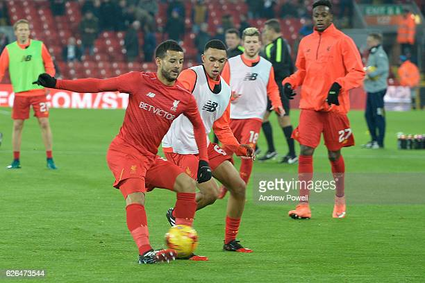 Kevin Stewart of Liverpool before the EFL Cup QuarterFinal match between Liverpool and Leeds United at Anfield on November 29 2016 in Liverpool...