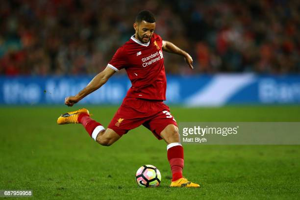 Kevin Stewart of Liverpool controls the ball during the International Friendly match between Sydney FC and Liverpool FC at ANZ Stadium on May 24 2017...