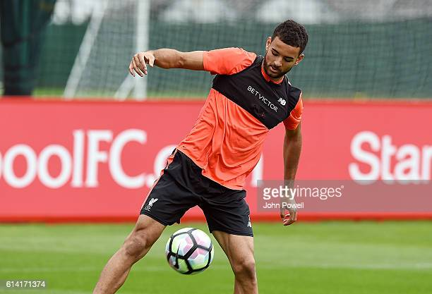 Kevin Stewart of Liverpool during a training session at Melwood Training Ground on October 12 2016 in Liverpool England