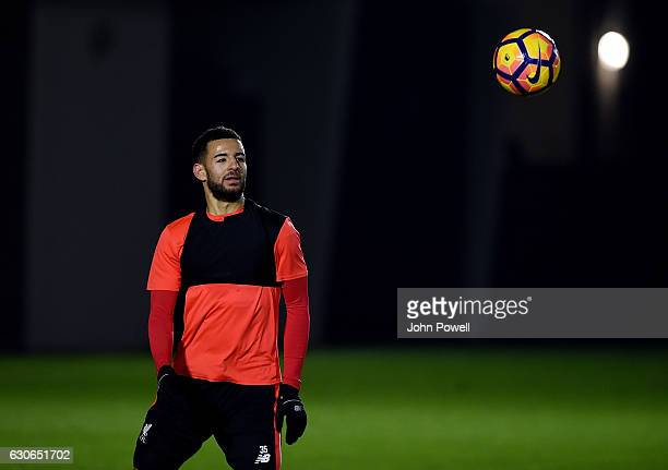 Kevin Stewart of Liverpool during a training session at Melwood Training Ground on December 29 2016 in Liverpool England
