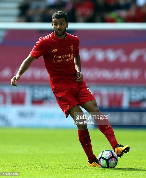 Kevin Stewart of Liverpool during the PreSeason Friendly match between Wigan Athletic and Liverpool at JJB Stadium on July 17 2016 in Wigan England