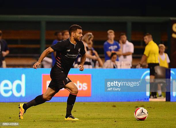 Kevin Stewart of Liverpool FC handles the ball against AS Roma during a friendly match at Busch Stadium on August 1 2016 in St Louis Missouri AC Roma...