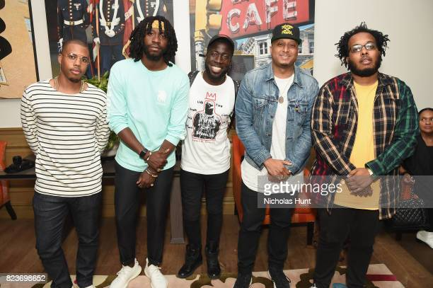Kevin Story Ron Bass Ray Holliday Gabriel Williams and Corey Townes attend the Detroit special screening at the Crosby Street Hotel on July 27 2017...