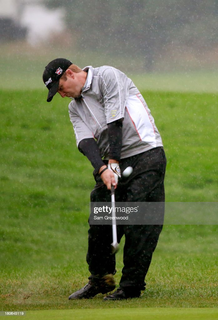<a gi-track='captionPersonalityLinkClicked' href=/galleries/search?phrase=Kevin+Streelman&family=editorial&specificpeople=4687006 ng-click='$event.stopPropagation()'>Kevin Streelman</a> hits a shot on the first hole during the Final Round of the BMW Championship at Conway Farms Golf Club on September 15, 2013 in Lake Forest, Illinois.