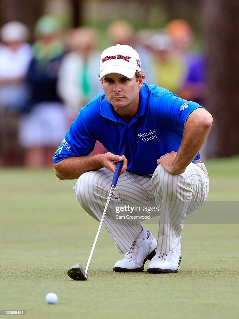 Kevin Streelman looks over a birdie attempt on the 17th hole during the final round of the Tampa Bay Championship at the Innisbrook Resort and Golf Club on March 17, 2013 in Palm Harbor, Florida.