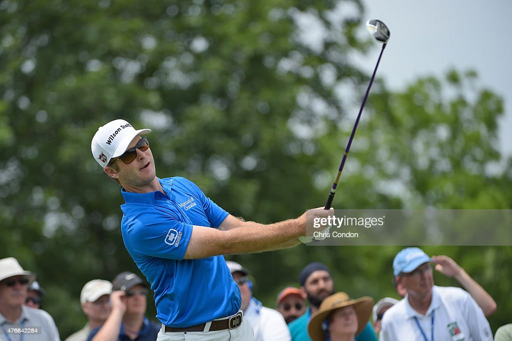 <a gi-track='captionPersonalityLinkClicked' href=/galleries/search?phrase=Kevin+Streelman&family=editorial&specificpeople=4687006 ng-click='$event.stopPropagation()'>Kevin Streelman</a> plays from the first tee during the final round of the the Memorial Tournament presented by Nationwide at Muirfield Village Golf Club on June 7, 2015 in Dublin, Ohio.