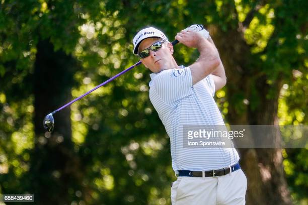 Kevin Streelman plays his shot from the 12th tee during the first round of the Dean Deluca Invitational on May 25 2017 at Colonial Country Club in...