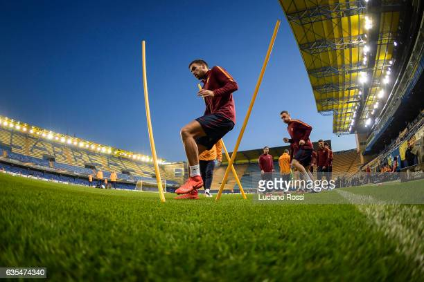 Kevin Strootman during an AS Roma training session at Estadio de la Ceramica on February 15 2017 in Villarreal Spain