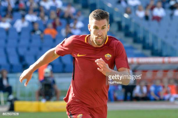 Kevin Strootman during the Italian Serie A football match between AS Roma and Udinese at the Olympic Stadium in Rome on september 23 2017