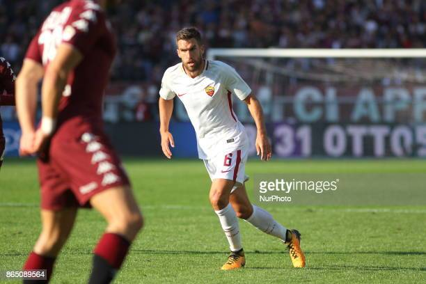 Kevin Strootman during the Serie A football match between Torino FC and AS Roma at Olympic Grande Torino Stadium on 22 October 2017 in Turin Italy