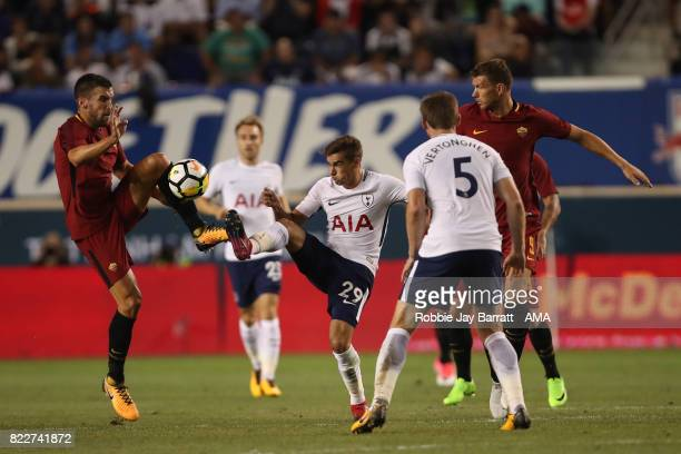 Kevin Strootman of AS Roma and Harry Winks of Tottenham Hotspur during the International Champions Cup 2017 match between Tottenham Hotspur and AS...
