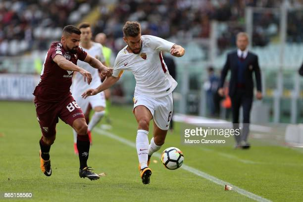 Kevin Strootman of As Roma and Tomas Rincon of Torino FC in action during the Serie A football match between Torino Fc and As Roma As Roma wins 10...